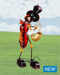 Ant With Saxophone Metallic Figurine # YDASA