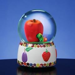 Caterpillar and Apple Musical Waterglobe  #49784