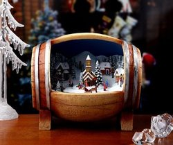 Barrel Village Music Box  #IC93054