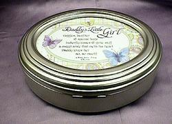 Daddy's Little Girl Silver Music Box #368c